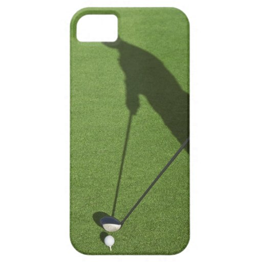 Golfer with driver prepares for swing iPhone 5 case