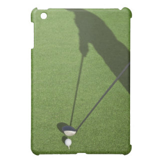 Golfer with driver prepares for swing case for the iPad mini