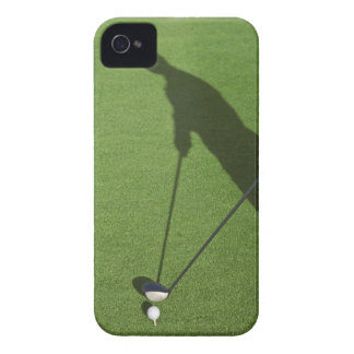 Golfer with driver prepares for swing iPhone 4 Case-Mate case