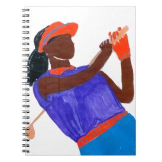 Golfer Woman Note Book