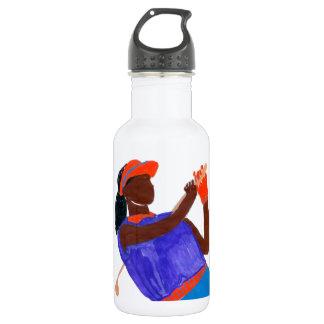 Golfer Woman Water Bottle