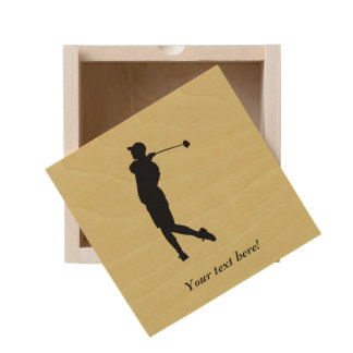 Golfer Wooden Keepsake Box