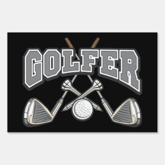 Golfer Yard Sign