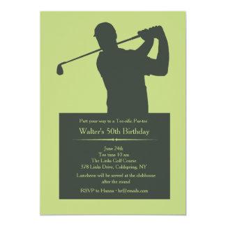 Golfer (YOU PICK COLOR BACKGROUND) Invitation