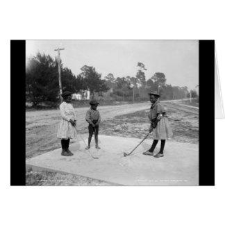 Golferinos African American Children Golf c1905 Card