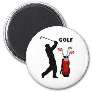 Golfers 2 Inch Round Magnet