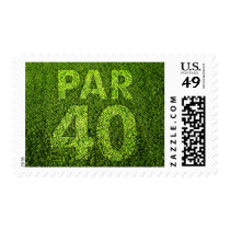Golfers 40th Birthday Party Par 40 Postage