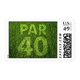 Golfers 40th Birthday Party Postage