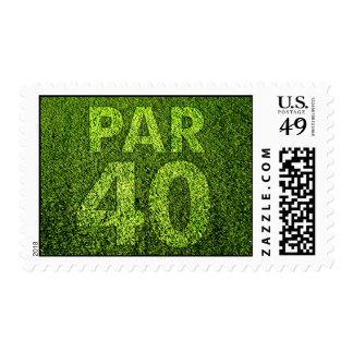 Golfers 40th Birthday Party Stamp