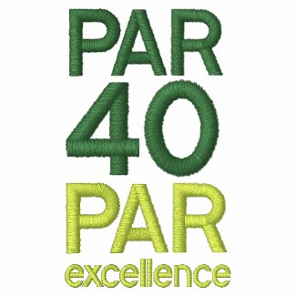 Golfers 40th Birthday Party Shirts Polo Shirt