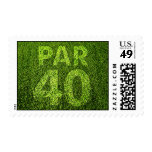 Golfers 40th Birthday Party Stamp