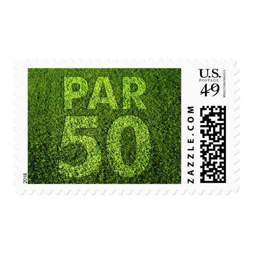 Golfers 50th Birthday Par 50 Party Postage Stamps