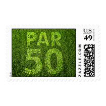 Golfers 50th Birthday Party Postage