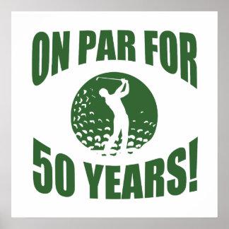 Golfer's 50th Birthday Poster