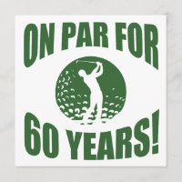 Golfer's 60th Birthday Card