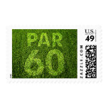 Golfers 60th Birthday Par 60 Party Stamps
