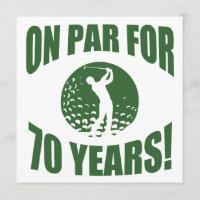 Golfer's 70th Birthday Card