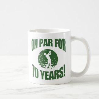 Golfer's 70th Birthday Coffee Mug