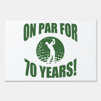Golfer's 70th Birthday Lawn Sign