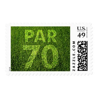 Golfers 70th Birthday Party Par 70 Postage Stamp