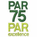 Golfers 75th Birthday Party Par 75 Golf Shirts Polo