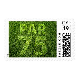 Golfers 75th Birthday Party Par 75 Postage
