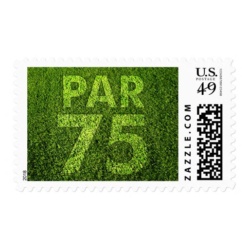 Golfers 75th Birthday Party Par 75 Stamps