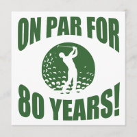 Golfer's 80th Birthday Card
