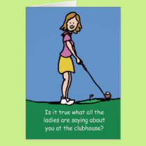 Golfers Birthday card