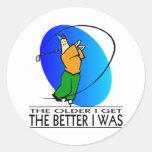 Golfer's  Birthday Sticker
