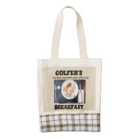 Golfer's Breakfast with golf ball grocery bag