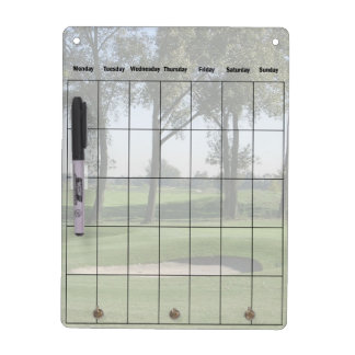 Golfers Calendar Dry Erase Board