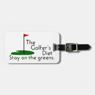 Golfers Diet Bag Tag
