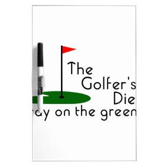 Golfers Diet Dry-Erase Board