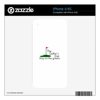Golfers Diet iPhone 4S Decal