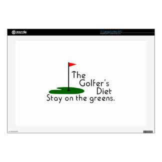 Golfers Diet Laptop Decals