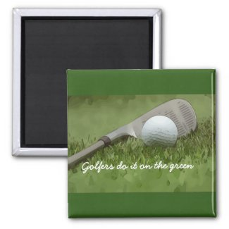 Golfers do it on the green with golf ball and iron magnet