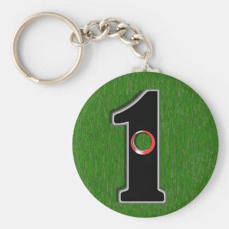 Golfer's Dream - Hole in One! Basic Round Button Keychain