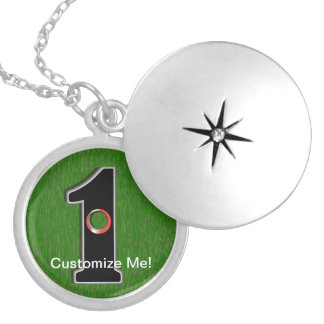 Golfer's Dream - Hole in One! Round Locket Necklace