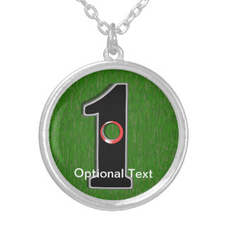 Golfer's Dream - Hole in One! Round Pendant Necklace