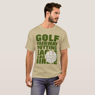 Golfers Golf Terminology Text Graphic T-Shirt