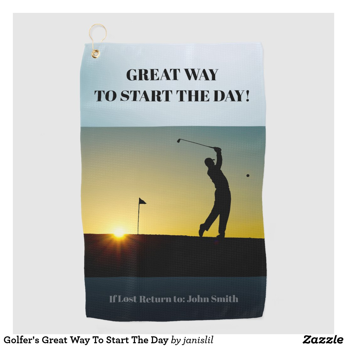 Golfer's Great Way To Start The Day Golf Towel