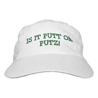 "GOLFERS HAT/CAP ""IS IT PUTT OR PUTZ"" FUNNY HEADSWEATS HAT"