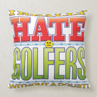 Golfers Hate Face Throw Pillow