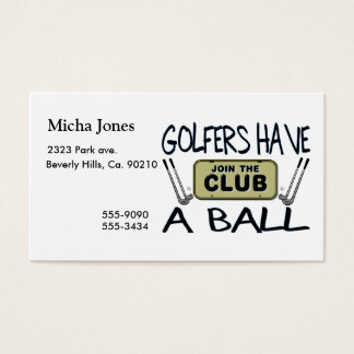 Golfers Have A Ball Business Card