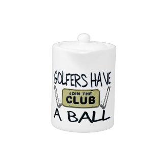 Golfers Have A Ball Teapot