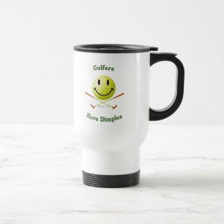 Golfers Have Dimples Smiley Travel Mug