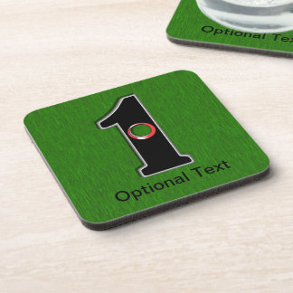 Golfers Hole in One Luck or Skill Coasters