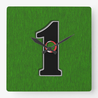 Golfers Hole in One. Luck or Skill? Square Wall Clock