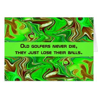 golfers humor card